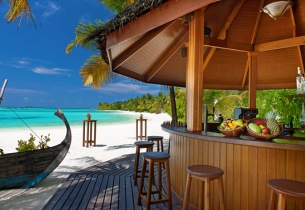 Beach Bar, Хотел Sheraton Maldives Full Moon Resort Spa