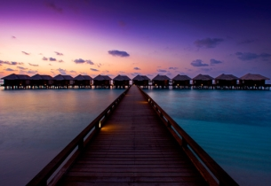 Water Bungalows, Хотел Sheraton Maldives Full Moon Resort Spa