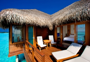 Water Bungalow, Хотел Sheraton Maldives Full Moon Resort Spa